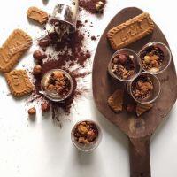 Tiramisu spéculos, chocolat noir et noisettes