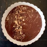 La tarte aux noix et chocolat noir - fleur de sel