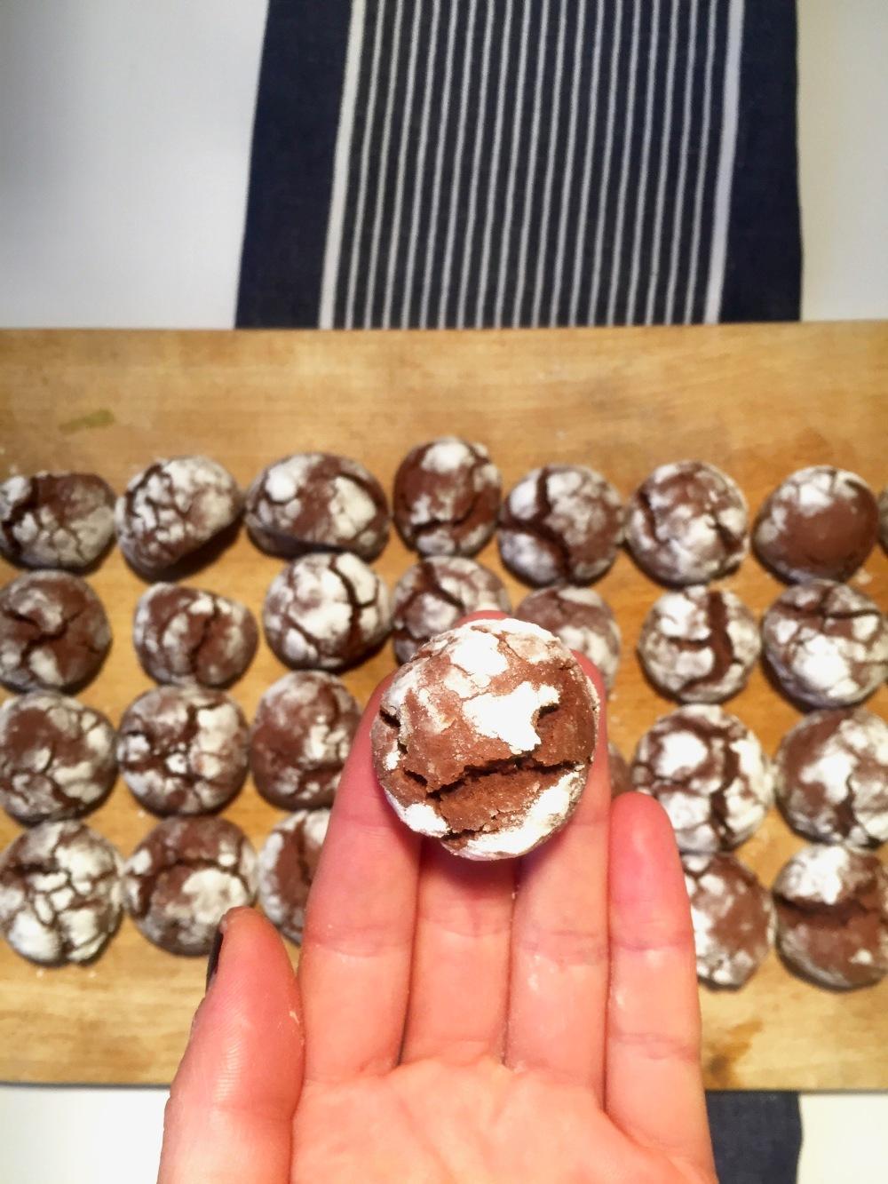Les crinkles chocolat-noix – Copyright © Le Revers de La Manche